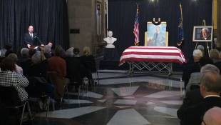 Former Governor Edgar Whitcomb Remembered During Statehouse Memorial Service