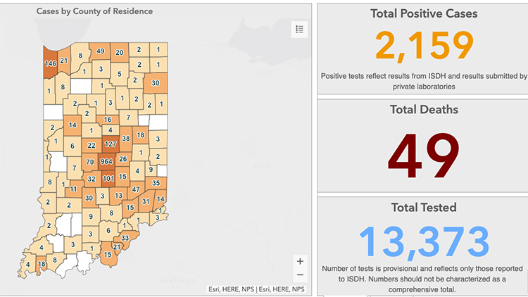 Indiana Records 14 More Deaths As Coronavirus Cases Spike