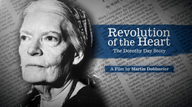 Black and white photo of Dorothy Day
