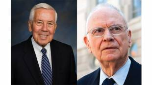 Representative Lee Hamilton and Senator Richard Lugar