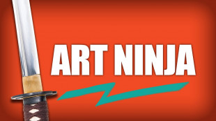 Art Ninja: Warrior Meets Paint | Abstract Painting Project
